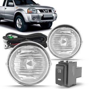 Kit farol de Milha Nissan Frontier 2003 a 2007 com Molduras e Botão Modelo Original