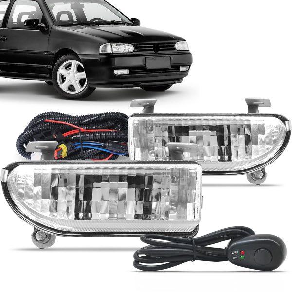Kit farol de milha Volkswagen Gol Bola 1996 1997 1998 1999