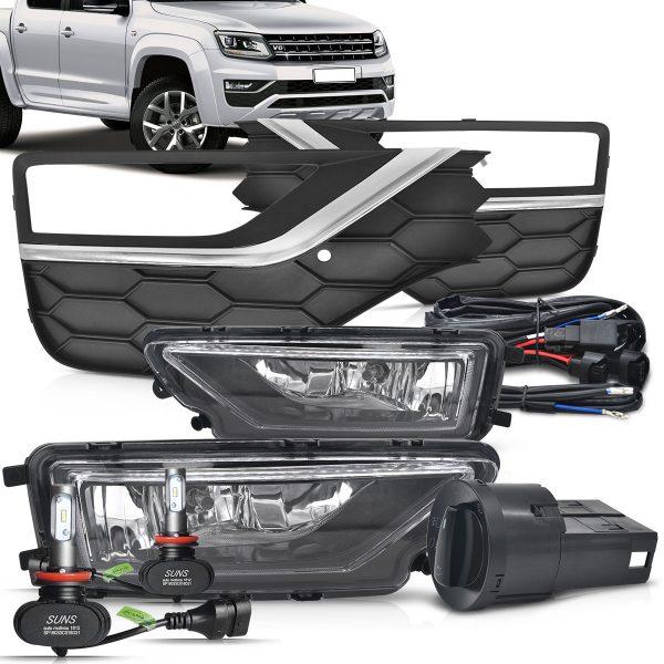 Kit farol de milha Volkswagen Amarok 2018 2019 + ultra led