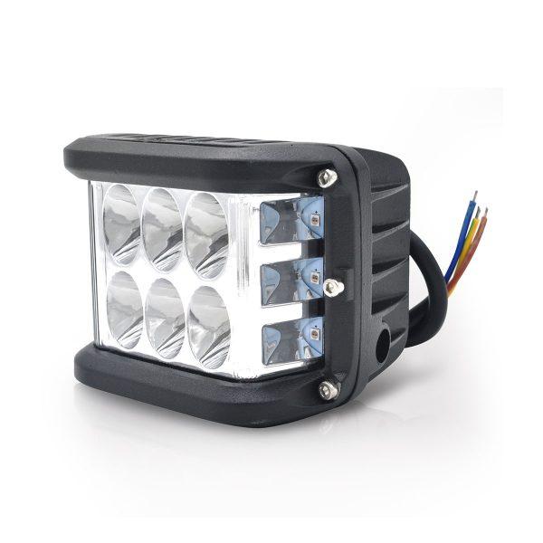FAROL LED STROBO 12 LEDS 36W - AZUL