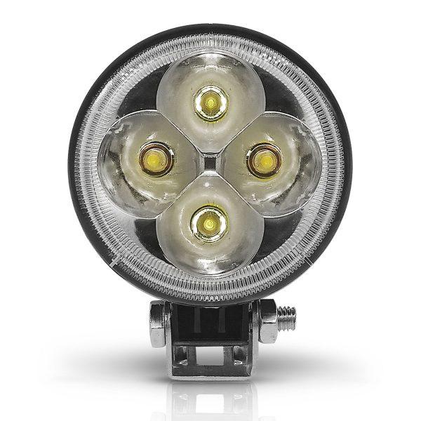 PAR FAROL MILHA LED REDONDO 4 LEDS 12W