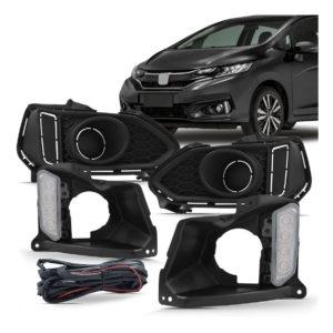 Kit Molduras Daylight Honda Fit 2018 2019 2020 com seta