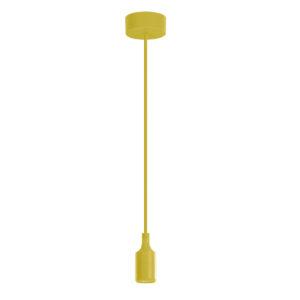 Luminária Pendente em silicone 40W amarelo