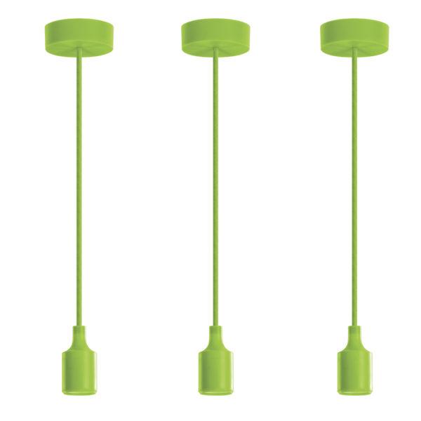 Luminária Pendente em silicone 40W Verde 2