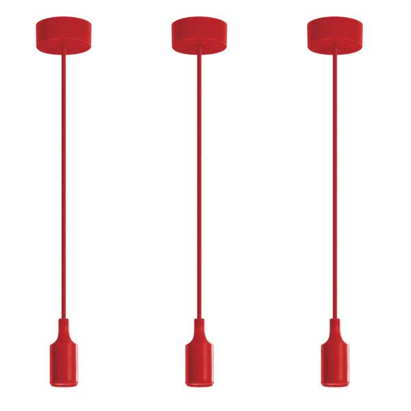 Luminária Pendente em silicone 40W Vermelho 2
