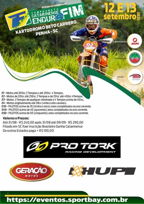 3ª e 4ª Etapas do Campeonato Catarinense de Enduro